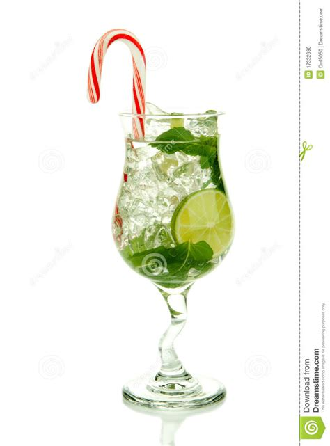 bacardi christmas ornament mojito cocktail stock photo image of leaf 17332690