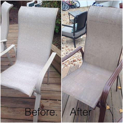 spray painting metal patio furniture patio furniture no problem spray paint fabric