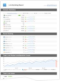 link building template ready to use seo report templates