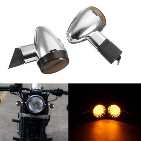 custom motorcycle turn signal lights motorcycle chrome smoke bullet led turn signal blinker