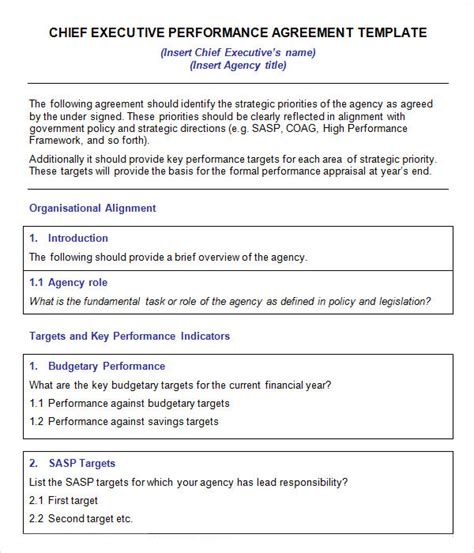ceo contract template executive agreement 9 free documents in pdf word