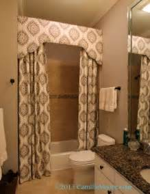 Custom Shower Curtains Shower Curtain With Cornice Design By Lori Paranjape Fabrication By Camille Window
