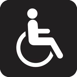 wheelchair accessible black clip art at clker com vector