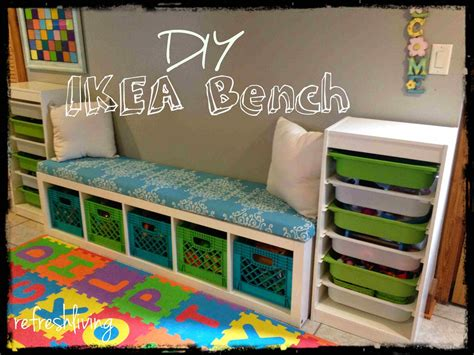 diy bench with cushion diy storage bench with ikea shelf refresh living
