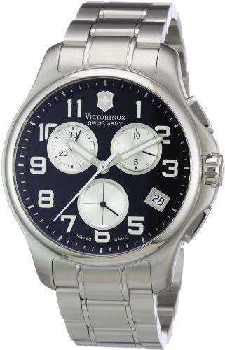 Swiss Army Sa2013m Black Leather victorinox swiss army s 241455 officers chrono black bossman watches