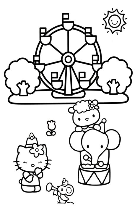hello kitty beach coloring page hello kitty coloring pages overview with a lot of kitties