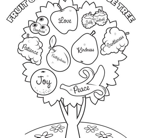 Fruit Of The Spirit Coloring Pages fruit of the spirit coloring pages coloring home