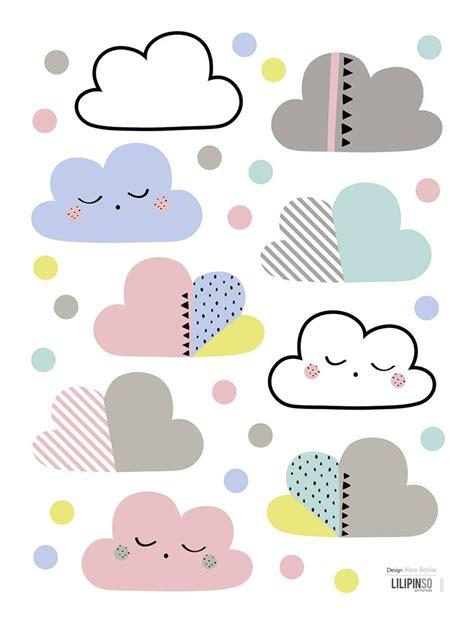 Wolken Aufkleber Kinderzimmer by Kinderzimmer Wandsticker Wolken Punkte Pastell Baby