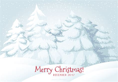 merry christmas snow scene illustration   vectors clipart graphics vector art