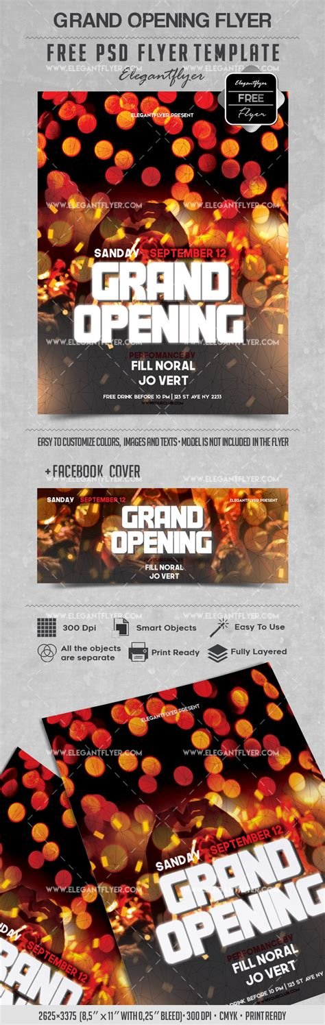 Party For Grand Opening Lights Template By Elegantflyer Lights Flyer Template