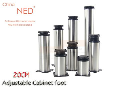 Promo Cetakan Lontong Stainless 20cm brand ned 4pcs furniture legs 20cm height adjustable stainless steel table cabinet metal foot