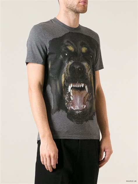 givenchy rottweiler t shirt givenchy rottweiler print cuban fit t shirt second kulture