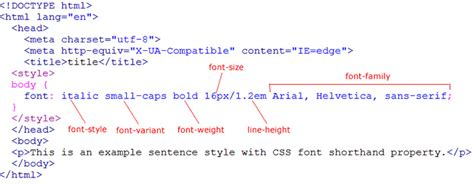tutorial css font css font shorthand property learn web tutorials