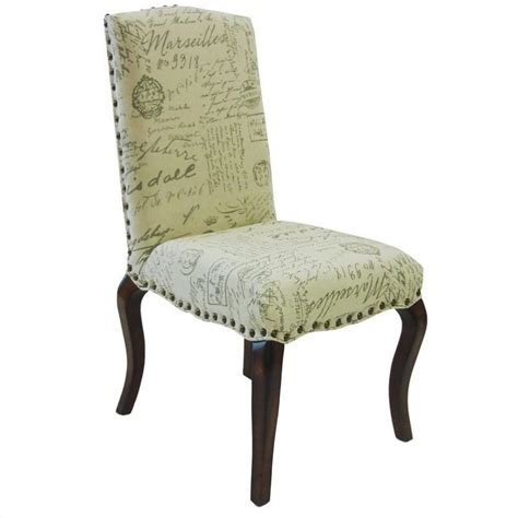 script chair covers madeleine vintage script dining chair set of 2