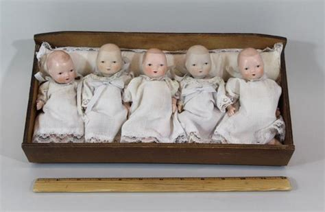 dionne bisque doll 5 antique circa 1940s dionne quintuplets small bisque