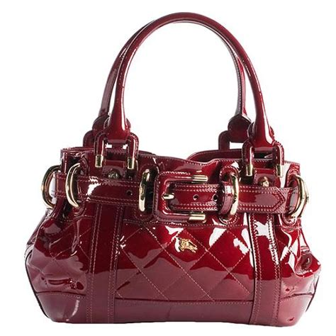 Burberry Quilted Leather Satchel by Burberry Quilted Patent Leather Baby Beaton Satchel Handbag