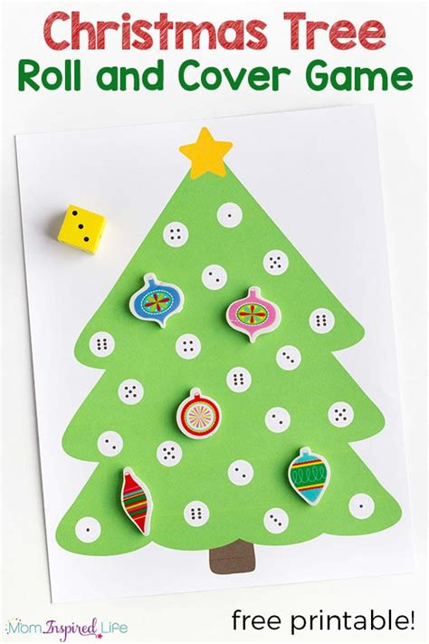 christmas tree math tree math activity a roll and cover