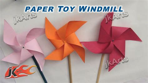 Paper To Make - how to make paper windmill fans