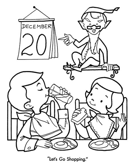 christmas shopping coloring pages time to go christmas