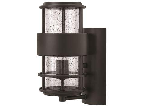 hinkley lighting saturn satin black outdoor wall light