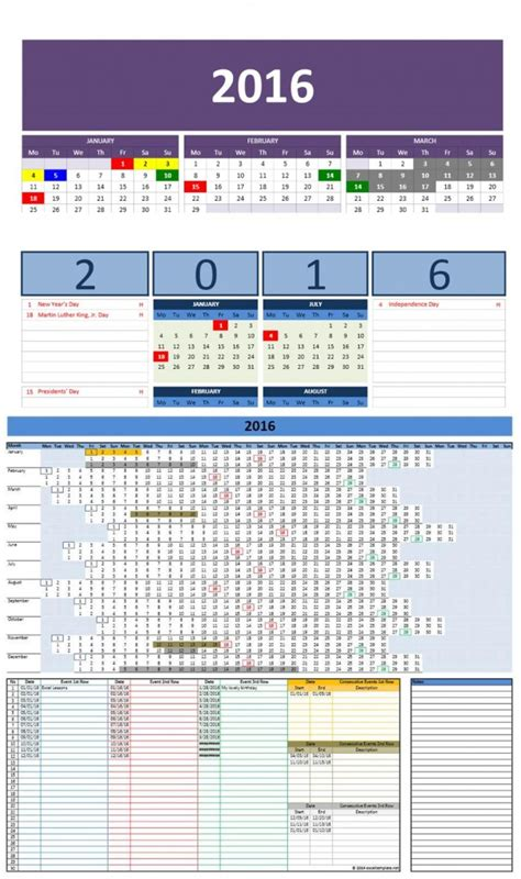microsoft office calendar templates free 2016 excel calendars template