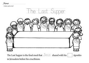 last supper coloring page free lent last supper coloring pages