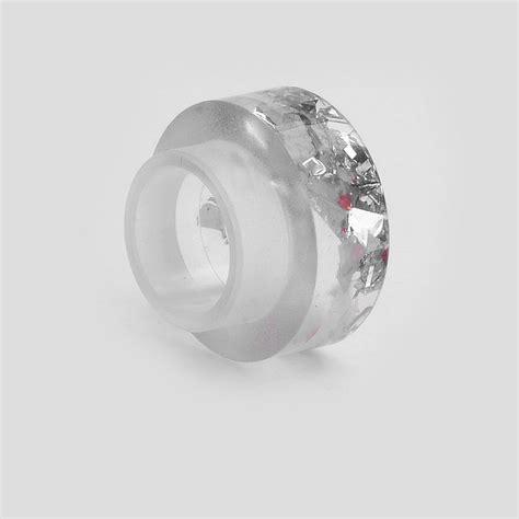 Acrylic 810 Driptip Wide Bore silver acrylic 11mm 810 wide bore drip tip for rda rta atomizer