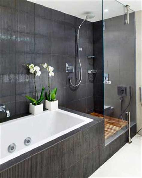 Attrayant Caillebotis Teck Salle De Bain #2: deco-design-pour-une-salle-de-bain-grise.jpg