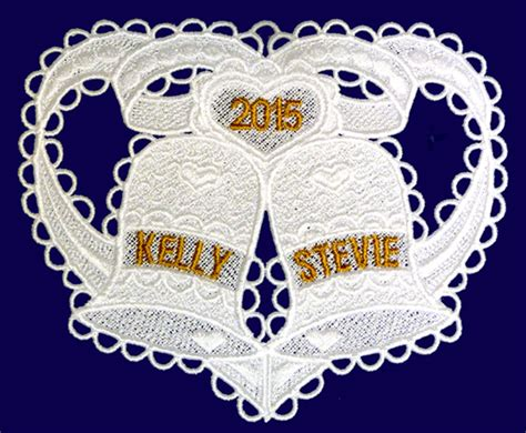 Wedding Bell Designs by Machine Embroidery Designs K Lace Ornaments