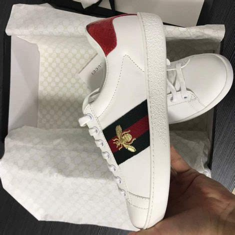 gucci ace embroidered low top sneaker bee new batch august 2017 hopkicks sneakers