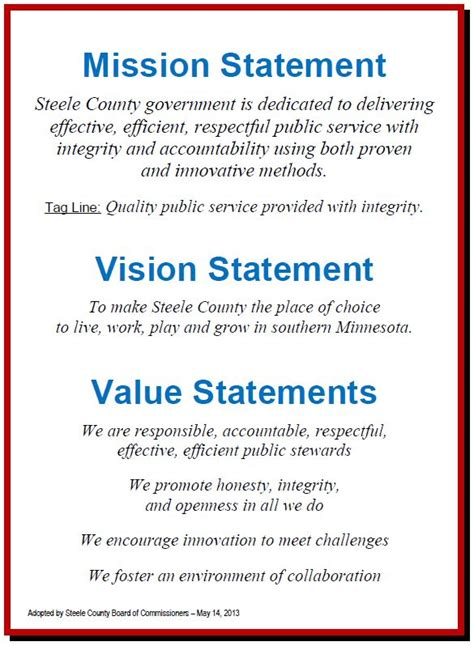 project vision template 25 unique mission statement exles ideas on