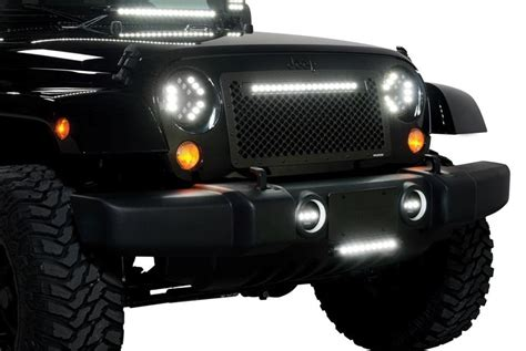 Led Jeep Lights Wrangler Putco 174 Jeep Wrangler 2001 7 Quot Black High Power Led