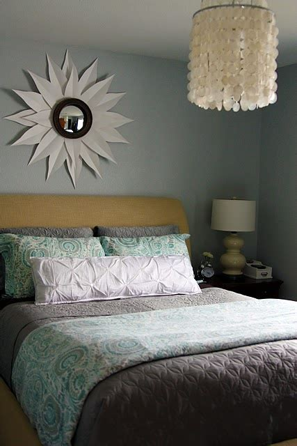 i l o v e this bedroom so restful and serene paint color is behr s premium plus ultra in