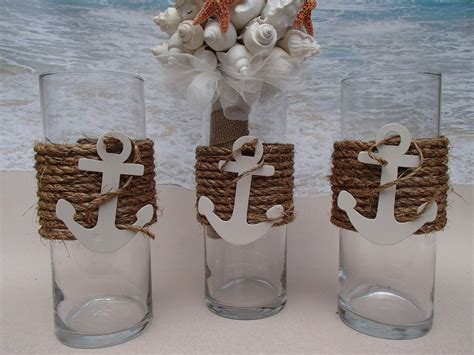 Hobby Lobby Vases Set Of 3 Nautical Vase Centerpieces Anchor By Paradisebridal