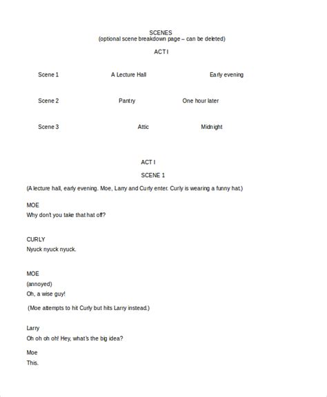 play script template script template 12 free word documents free