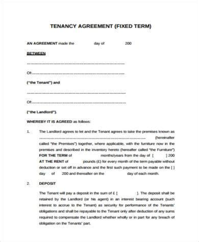 Tenant Agreement Form Sles 8 Free Documents In Pdf Landlord Tenant Contract Template Uk