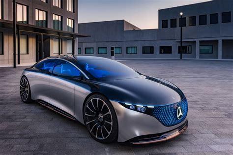 mercedes benz vision eqs concept car body design