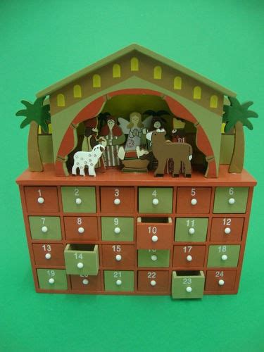 Advent Calendar Drawers Wooden by Wooden Nativity Advent Calendar Drawers Open