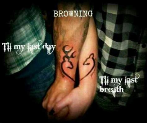 matching browning tattoos for couples browning tattoos for his and browning tattoos