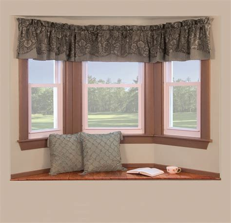 windows with curtains curtain rods for bay windows casual cottage