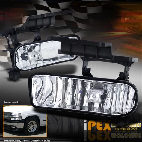 for 1999 2002 chevy silverado 2000 2006 suburban tahoe clear fog lights ebay