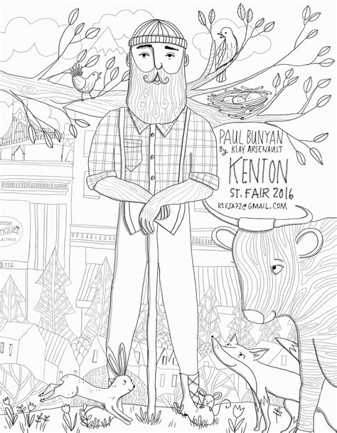 Paul Bunyan Coloring Pages Coloring Home Paul Bunyan Coloring Page