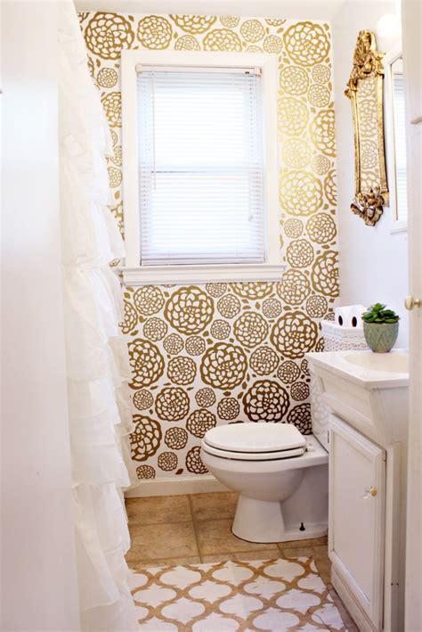 gold glam bathroom makeover gold glam bathroom makeover