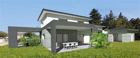 Terrasse Couverte Maison by Maison D Architecte Contemporaine 224 Casquette B 233 Ton