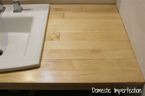 Wood Flooring For Countertops by Bathroom Remodel Build A Counter Out Of Wood Flooring