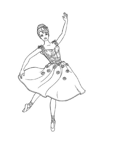 ballet color pages free printable ballet coloring pages for