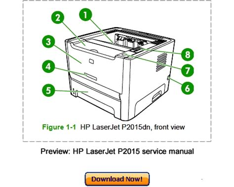 Hp Laserjet P2015 Service Repair Manual Download