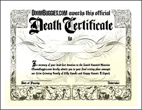 fake death certificate template creator sle templates