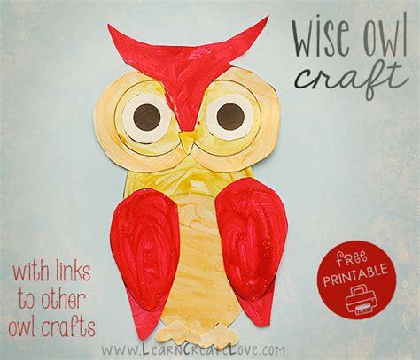 printable owl craft printable wise owl craft