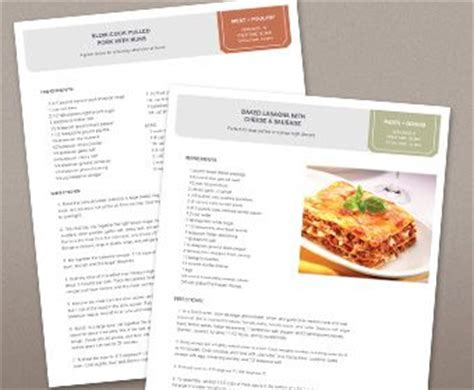 free cookbook templates 25 best ideas about recipe templates on